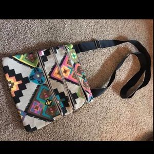 Aztec pattern cross body